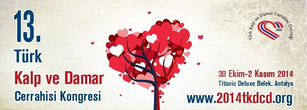 Türk Kalp ve Damar Cerrahisi Derneği 13. Uluslararası Katılımlı Kongresi için Kayıt+Konaklama Bursu