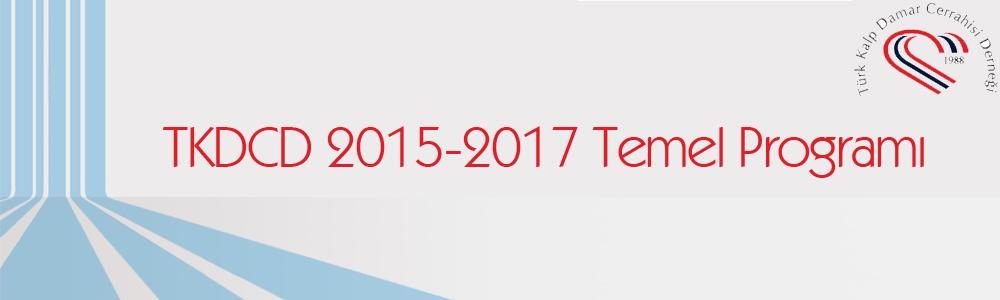TKDCD 2015-2017 Temel Programı