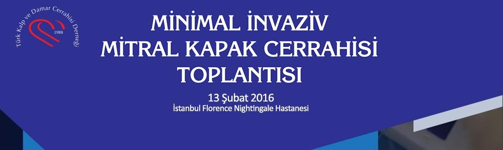 Minimal İnvaziv Mitral Kapak Cerrahisi Toplantısı 13 Şubat İstanbul