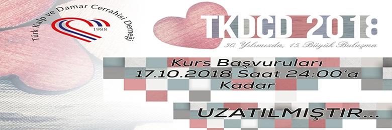 15. TKDCD Kongre Kurs Başvuru Tarihi 17.10.2018'e Kadar Uzatılmıştır.