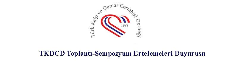 TKDCD Toplantı-Sempozyum Ertelemeleri Duyurusu