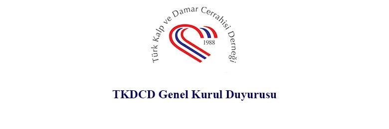 TKDCD Olağan Genel Kurul Duyurusu